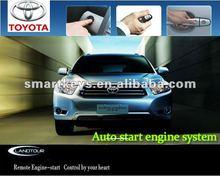 pke car alarm auto starter keyless entry system smartkey thinnest smart push button start for Toyota Highlander