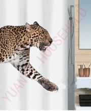 animal design printed shower curtains wholesale waterproof shower cutain