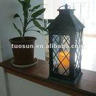outdoor use iron holder,plastic lantern candle