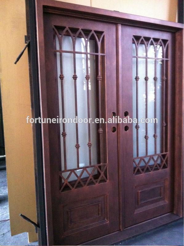 Utilizado exteriores de hierro forjado puertas de entrada - Puertas exterior hierro ...