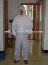 diposable non-woven fabric coverall