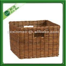 pop up large wicker laundry basket