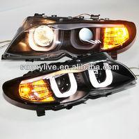 For BMW E46 318 320 323 325 330CI Head lamp 4 doors Angel Eyes 2001-2005