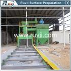 Roller conveyor shot blast machine