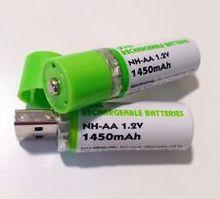 NIMH AA USB rechargeable battery