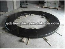 Black granite round pool bullnose coping stone