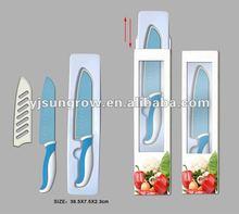 "7"" Santoku Knife with blade protection cover"