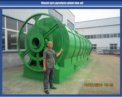 2012 hot sale waste tyre pyrolysis equipment