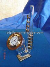 crystal gift crystal table clock good crystal saxophone clock