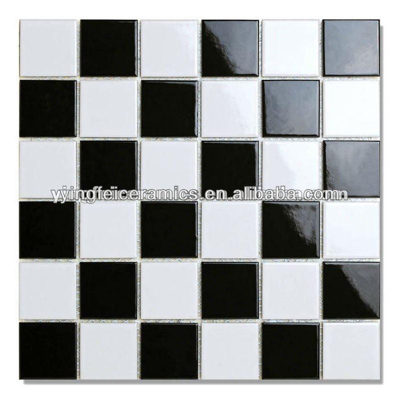 23×23,48×48 preto e branco de cerâmica do banheiro mosaico azulejo preto e br # Azulejo De Cozinha Preto E Branco
