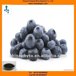 Herbal extract Blueberry extract for health supplement,high quality anthocyanin powder