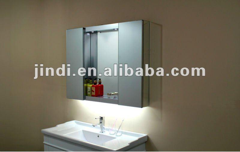 2012 moda de aluminio del gabinete del espejo para muebles de baño--Identific...