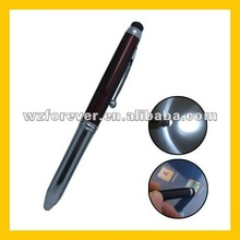 3 in 1 Led Light Ballpoint Pen With Touch Pen For Ipad/Iphone