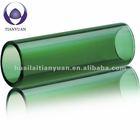 green color 4mm heavy wall borosilicate glass tube