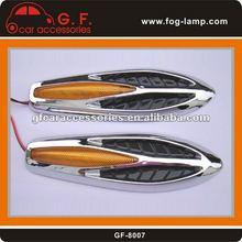 2PCS Auto Vehicle Car Decorative Mesh Side Vent Air Flow Fender With Light