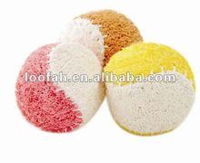 loofah dog toy ball