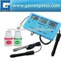 Digital 6-in-1 multi - função da qualidade da água testador metros cf ce tds ph grau c e f + built - na bateria recarregável