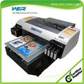 Nueva venta caliente para el caso de teléfono, más ligero, pluma de plexiglás y digital de escritorio a2 tamaño uv de cama plana de la impresora