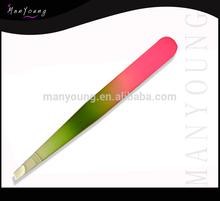 High Precision Perforated professional slant tip tweezers/ quality tweezers
