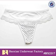 cotton lady thong panties in dot print