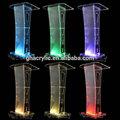 Exportados desmontable LED dimmable modern barato de acrílico podium, Barato, Barato de acrílico púlpito