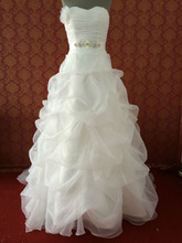 (MY0070) Marry You A Line Princess Wedding Dress Imported From China Flower Appliqued And Beaded Belt