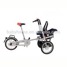 3 big wheels mother baby stroller bike