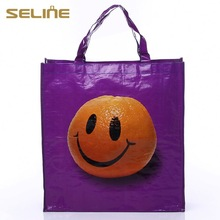 Fashion with high quality pictures printing woven shopping bag