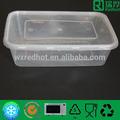500 ml de una sola - tiempo de contenedores de plástico para alimentos con el medio ambiente / microondas de plástico para llevar los alimentos