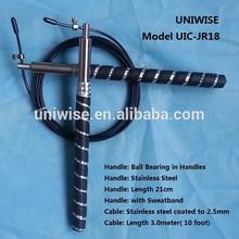 JR18- High quality Metal jump rope wholesale, professional bearing crossfit speed skipping rope.
