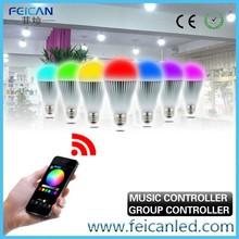 remote controller RGB 9w e27 led bulb wifi smart control