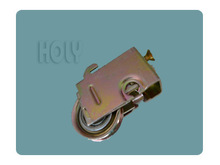 Steel Stainless Single gate roller alloy plastic wheels with yellow zinc plated--------AR15