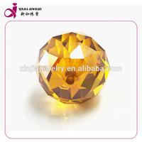 High Quality Golden 15x15MM Loose Cut Cubic Zirconia gemstone beads