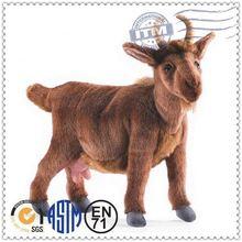 Custom stuffed goat toy&stuffed goat plush toy&long fur plush goat