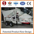 Padrão 1A máquina misturadora de concreto, Schneider PLC Mini móvel de concreto da planta de lote
