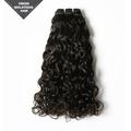 grado superior de la extensión del pelo natural virgen color 16 pulgadas solo dibujar mm 25 onda curl virgen de malasia rizado cabello humano