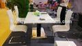Parlak paneli mdf yemek masası/siyah parlak yemek masası