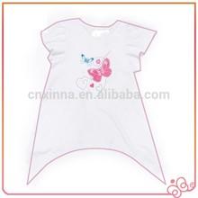 Young girl cute fashion design child two tone t-shirt