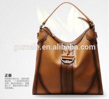 New Arrival! 2015 big brand lady real leather handbag vintage women hobo bag leather handbag