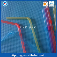 Hard plastic flexible drinking straw