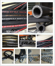 hydraulic high pressure black hose 2 inch hose with 5000 psi