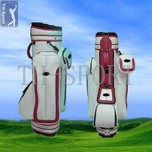 White PU golf bag shoulder strap