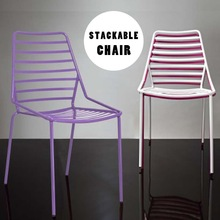 galvanized painted metal chair stackable wire chair