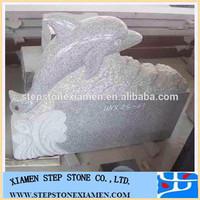 hot sale light grey dolphin headstone
