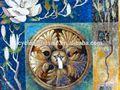 Corte da mão mosaico arte, telha de mosaico para cozinha