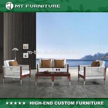 Hot Sell Modern Wood Frame and Rattan/Wicker Sofa Set-5pcs Furniture