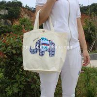 plain white cotton tote bag/ bulk reusable shopping bags/ 100% recycle cotton bag