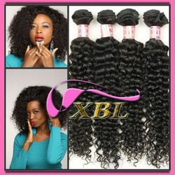 top quality virgin indian curly hair weave natural color 100g/bundle