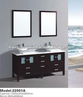 espresso Double Sinks basin Free Standing Solid Wood Bathroom Cabinet,bathroom furniture ,bathroom vanity