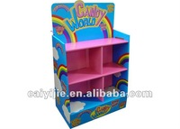2015 new & fashionable paper display rack for candy an sweets / floor display for toys and books